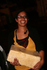 Emily and the giant cheese