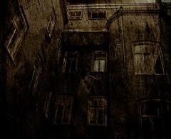 Ghostyard (gothicburg) Tags: old brick photoshop dark göteborg backyard nikon sweden gothenburg olympus textures layers ghosts sverige solarized solarize lightroom menagerie vasastan vasastaden viktoriagatan darkestdreaming