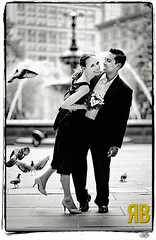 Causing a Commotion (Ryan Brenizer) Tags: nyc wedding blackandwhite love beautiful smile groom bride engagement nikon bokeh manhattan august noflash gothamist 2008 85mmf14d d700 yelenaandmohammed