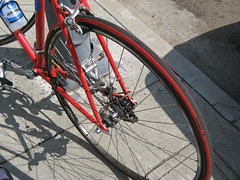 broken bike bicycle spokes chain commuting wreck damaged