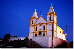 Bra$il My Country ~ Igreja Matriz ~  Santa Luzia ~ MG (Anderson Sutherland) Tags: door blue windows light sunset sky sunlight minasgerais home window brasil photo casa poste paint image picture churches santaluzia center historic chapels temples mineiro belohorizonte domes mosques janelas ruas portas casinhas uai s shrinesandmonaster minerim libertasquaeseratamen