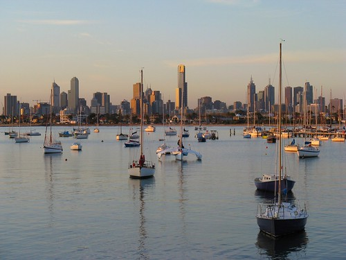 Beautiful Melbourne Skyline from St Kilda by Dean-Melbourne.