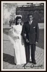 Matrimonio miei nonni 1946 (MARCO_QUARANTOTTI) Tags: wedding italy italia marriage matrimonio tuscania phto sposi