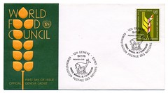 """World Food Council"" Nov. 11, 1976 (Draplin) Tags: treasure stamps unitednations envelope ddc junkin oldpaper firstdayofissue draplin oldink draplindesignco"
