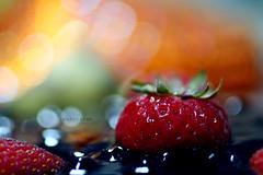 d e e p  *  l o v e (Weda3eah*) Tags: red orange green love cake by cheese strawberry bokeh deep yumi qatar weda3eah goldenvisions