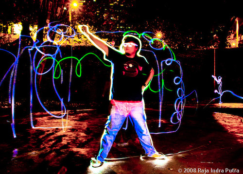 Light Painting: Superman