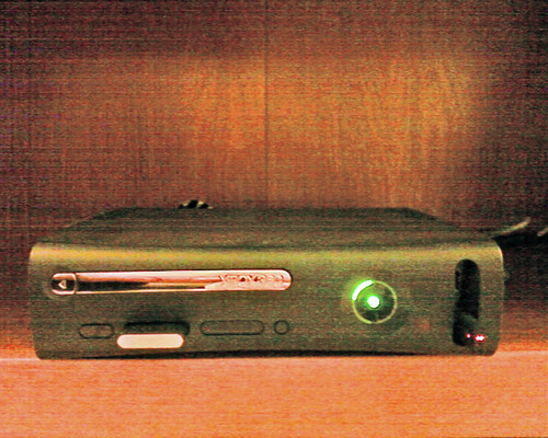 The XBox 360 is on