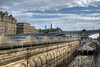 View from Waverly Bridge, Edinburgh (Surely Not) Tags: bridge station scotland nikon edinburgh hill railway moo hdr waverly northbridge calton d80 yourphototips thephotoproject