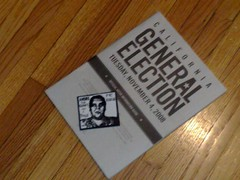 california voter's guide with andre the giant obey sticker