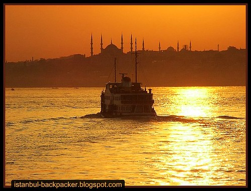 Golden Sunset at Istanbul Bosphorus