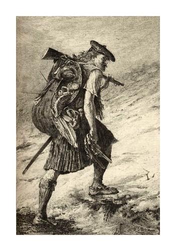 011-Desbandado-Pintado por John Pettie, Grabador F.Huth para la novela Waverly de W. Scott