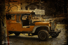 King of the Road (pressure4breakfast) Tags: road old classic photoshop vintage jeep machine nostalgia cracks philippinejeepney