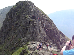 MVI_1760 Striding Edge Granny trap (JSi2) Tags: uk mountain lake video district ridge cumbria info 2008 stridingedge helvellyn chrish miket jsi2