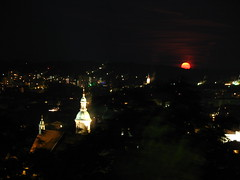 2007 07 01 - 0572 - Graz - View from Schlossberg (thisisbossi) Tags: moon night austria sterreich graz moonillusion