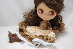 Brown Lacey Layerd Dress