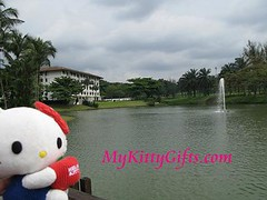 Hello Kitty's View of Pool at Saujana Golf and Country Club, Malaysia