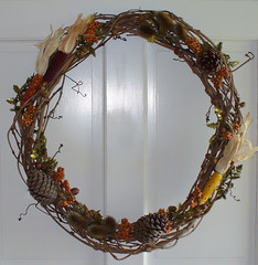 Handmade Fall Wreath 08' (jharshman) Tags: fall pine corn indian wreath grapevine acorns cones teasels