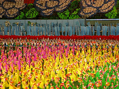 During the opening of the mass games, the field filled up (NO-HA) Tags: northkorea pyongyang dprk arirang massgames 평양직할시 조선민주주의인민공화국 prosperourcountry