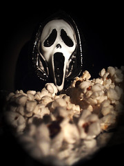 it's a SCREAM baby! (daisy_princess) Tags: food halloween movie costume scary candle killer popcorn scream horror fright ghostface drewbarrymore slasher matthewlillard caseybecker bloggedhalloween