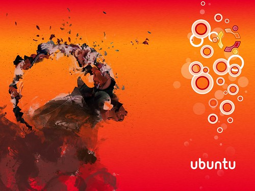 Ubuntu 8.10 Intrepid Ibex Wallpapers - 2bUbuntu Human bubbles (brushed)
