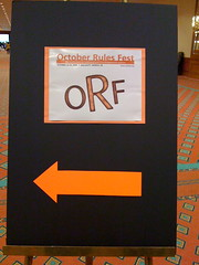 October Rules Fest sign