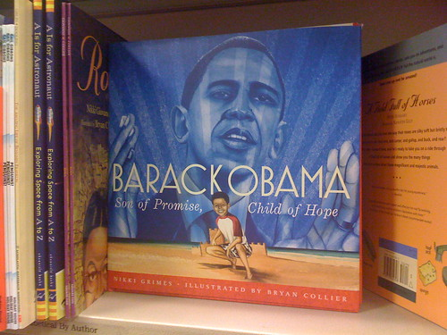 Barack Obama Appears In The Children's Section At Barnes And Nobel