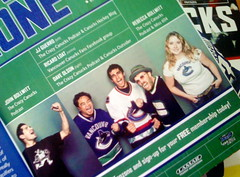 Miss604 mention in Canucks Magazine