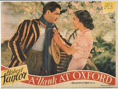 """A Yank At Oxford"" (Imitation of Eythe) Tags: 1930s hollywood mgm movieposters roberttaylor moviescenes"