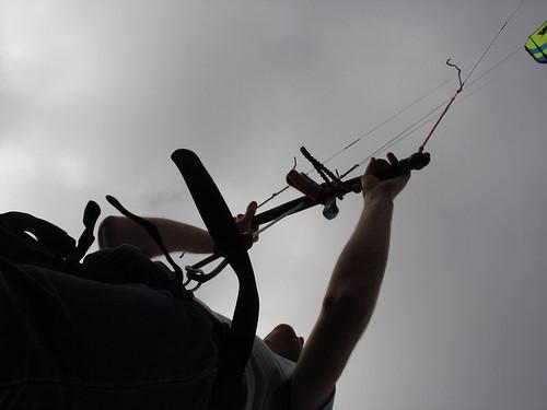 Matt Chernishov flying his kite in Wellington, New Zealand