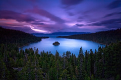 EMERALD BAY SUNSET - CONTEST FINALIST! (Stephen Oachs (ApertureAcademy.com)) Tags: california trees sunset storm forest purple laketahoe emeraldbay stephenoachs stephenoachscom lighttheexpeditioncom emerladbay