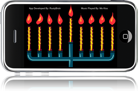 iPhone Menorah