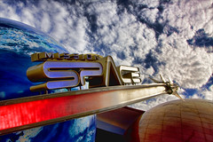 MissionSpace (Matt Pasant) Tags: blue red mars colors clouds amusement orlando epcot missionspace education ride florida earth space icon nasa shuttle spinning wdw waltdisneyworld epcotcenter attraction i4 horizons futureworld imagineering imagineer yearofamilliondreams canon40d garysinse flickrlovers topazadjust