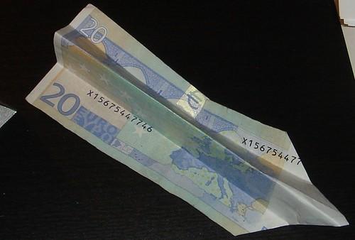 20-Euro-Schein Flieger