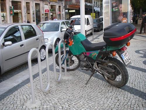Bike rack for motorcycles