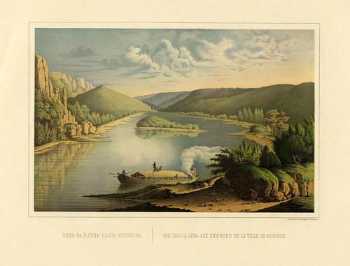 Vista sobre el rio Lena en los alrededores de Kirensk