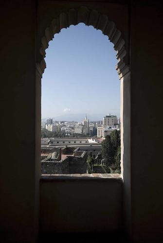 Málaga desde la alcazaba antes