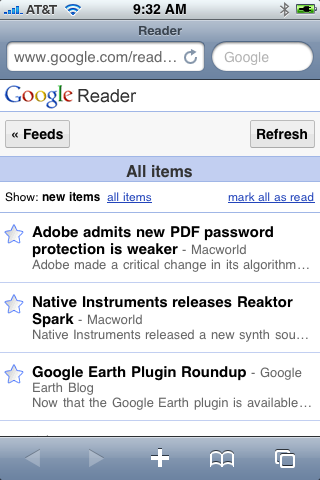 Google Reader Whiter
