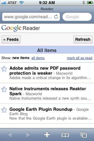 Google Reader Whiter