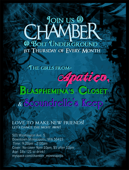 Chamber flyer for Apatico/Scoundrelle/Blasphemina