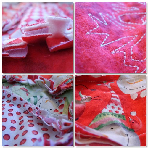 Christmas Rag Quilt 1
