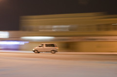 squirrel (wouldpkr) Tags: street longexposure winter snow ford night truck il vehicle minivan dekalb lincolnhwy rt38