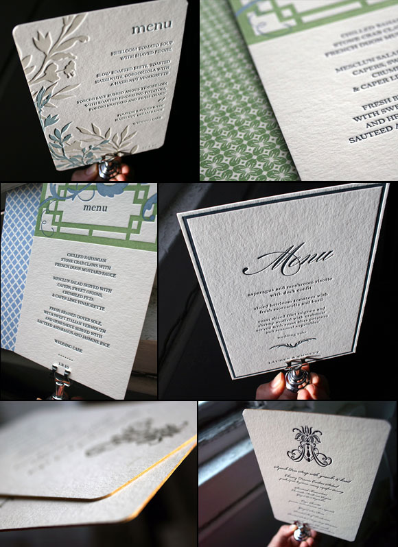 Our favorite letterpress menus - by Smock