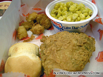 The fried chicken and signature biscuit