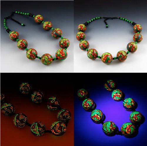 Psychedelic Mushroom Necklace - 4