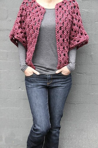 Mulberry Granny Shrug ...