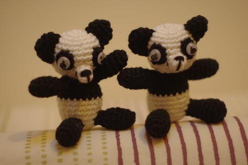 Twin panda bears