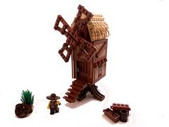 Medieval Post Mill (Sabarrus) Tags: castle mill windmill lego