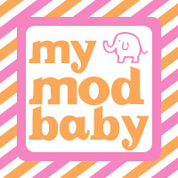 button mymodbaby striped elephant