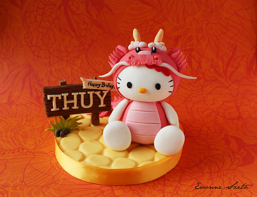 Dragon Hello Kitty Cake