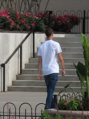 dude walking in the Commons (jdeanphoto) Tags: columbus ohio buildings greenspace citycentermall columbuscommons